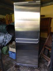 Edelstahl Kühl- und Gefrierschrank von