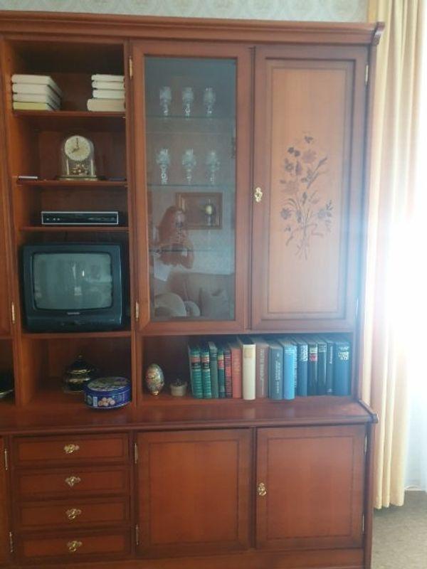 kirschbaumholz wohnzimmerschrank