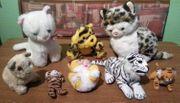 Stofftiere - 8 Katzen nur zusammen