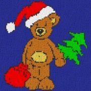 Vorlage für Ministeck Weihnachtsbär mit