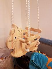 Schaukel Holz Pferd