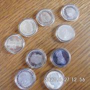 10 Stück 5 DM Gedenkmünzen