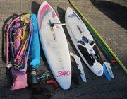 Große Surfausrüstung 2x Board 3