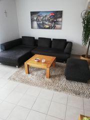 Wohnzimmergarnitur Couch mit Hocker
