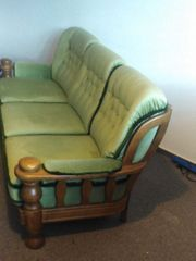Sofa Couch Sessel echte Holz
