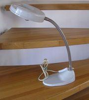 Arbeitslampe aus Metall mit integrierter Lupe