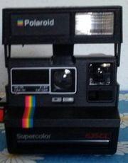 Polaroid 600 Sofortbildkamera mit Tasche