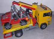 Bruder Abschlepp-LkW und Jeep