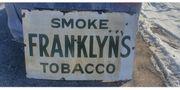 Großes Emailschild Franklyn s Tobacco