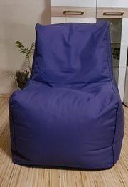 Hochwertiger Sitzsack XXL lila wie