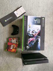 Xbox One X schwarz 1TB