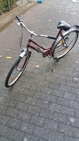 Damen-Fahrräder - Ragazzi Liner weinrotes 28 Zoll