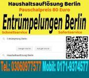 Entrümpelung Berlin Pauschalpreis 80 Euro