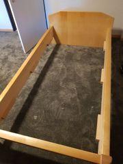 Bett Massivholz zu verkaufen