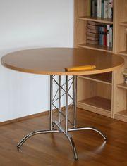 Tisch rund Durchmesser 1m Buche