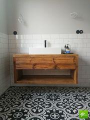 Wunderschöne Badmöbel aus Altholz - Alldeco