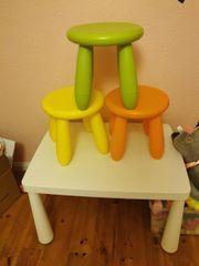 Mammut Tisch und 3 Stühle