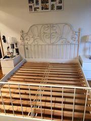 Leirvik Bettgestell Ikea weiß Lattenrost