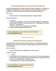 Online-Research for Sexual Satisfaction Participants
