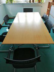 Vitra Konferenztisch mit 6 Konferenzstühlen