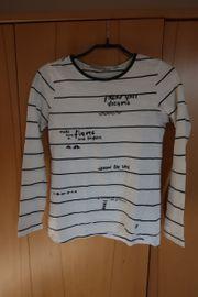 Shirt weià mit schwarzen Streifen