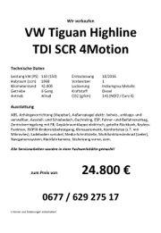 VW Tiguan Highline TDI SCR
