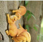 NEU Paar Eichhörnchen Baumfigur Baumgucker