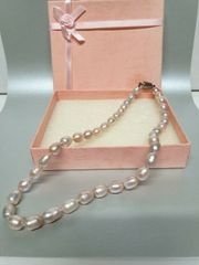 Perlenkette echt wunderschön rosa