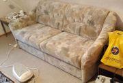 Sofa ausziehbar mit Hocker