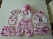 süsse Puppenkleidung 10-teilig-Baby Born Sister