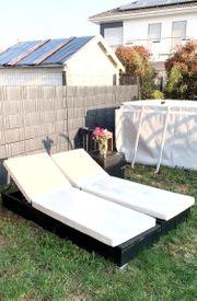 Gartenliegen Rattan Loungemöbel