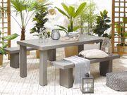 Gartenmöbel Set Beton grau Tisch