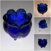 kleine Kobaltblaue Formvase Glastulpe mit