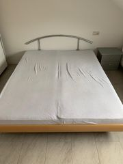 Bett 160cm inkl Matratzen Lattenrost