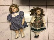 2x Weichkörper Puppen mit Porzellan