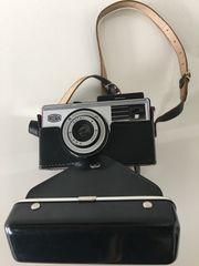 Alte BILORA Kamera mit Ledertasche