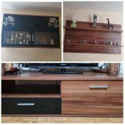 Wohnzimmerwand Sideboard Vitrinenschrank 2 75m