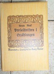 Erzählungen Der Prosaschriften Erster und