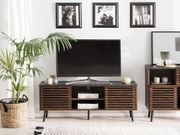 TV-Möbel dunkler Holzfarbton PERTH neu -