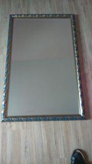 Manufaktur-Spiegel DIEMME mit Prunkrahmen blau