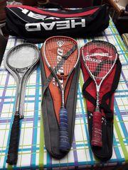 Squash-Tasche mit 3 Schlägern