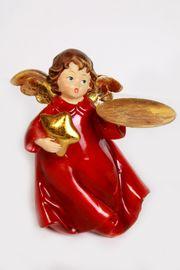 Weihnachtsengel mit Tablett 13cm hoch
