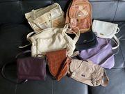 9 Lederhandtaschen diverse Farben und