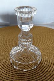 Kristallware Kerzenständer Dose mit Deckel