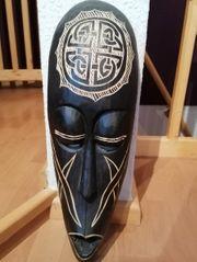 afrikanische Deko Maske - Wanddeko Holzmaske