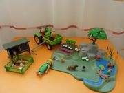 playmobil Traktor Garten Hasenstall Bach
