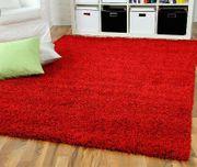 Roter Wohnzimmerteppich
