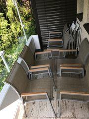 6x Gartenstühle - massiv Alu Teak