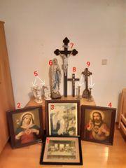 Heiligen Bilder Figuren Kreuze