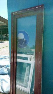 Balkontür innen weiß außen braun